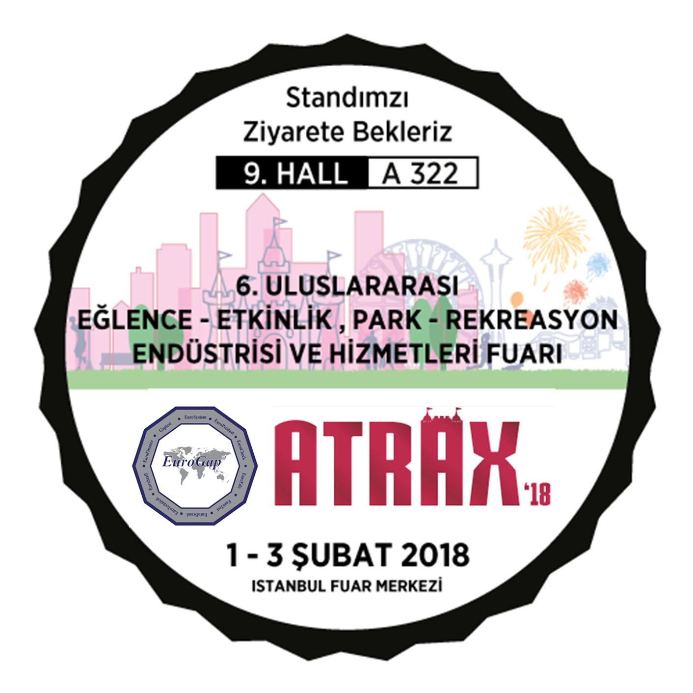 1-3 Şubat Tarihlerinde 18. ATRAX Fuarına Katılıyoruz.